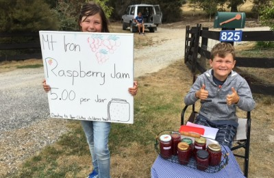 Sienna & William McAteer who made and sold jam for the Trust