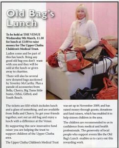 "Messenger editorial promoting the Trust's ""Old Bags"" Fundraiser"