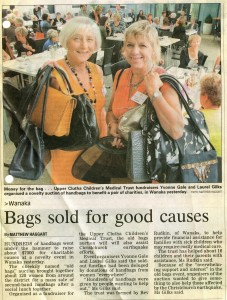 "Otago Daily Times story on the Trust's ""Old Bags"" Fundraiser"
