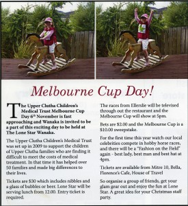 Messenger story on the Trust's 2012 Melbourne Cup Fundraiser